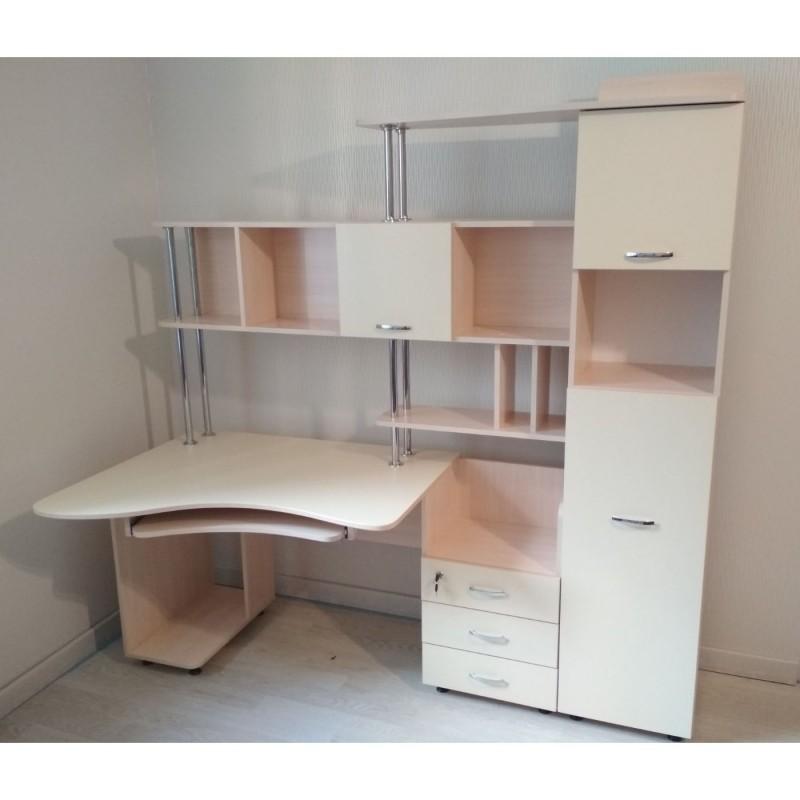 Прямой компьютерный стол СК-20 Тиса Мебель