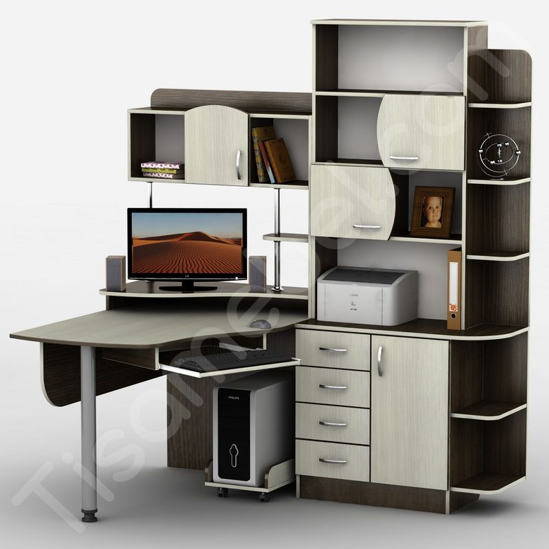 Угловой компьютерный стол Тиса-8